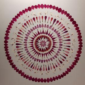 Brautstrauss trocknen bunte Blüten 60 x 60