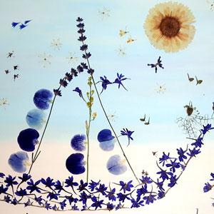 Brautstrauss trocknen bunte Blüten luxury style Format 60 x 80 Ausschnitt