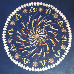 Brautstrauss trocknen, Protea konservieren Kunstwerk 40 x 40