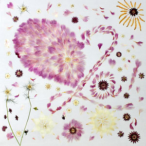 Brautstrauss trocknen - Wildblumen Päonien trocknen 60 x 60