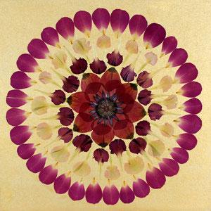Brautstrauss konservieren, Kaleidoskop 40 x 40