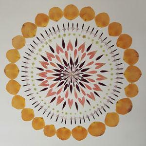 Brautstrauss konservieren, Kaleidoskop 60 x 60