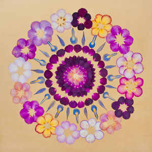 Brautstrauss trocknen bunte Rosen konservieren 60 x 60