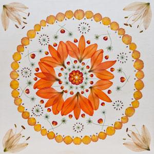 Brautstrauss trocknen - Lilien und Rosen 60  60