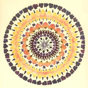 Brautstrauss konservieren, Rittersporn, Rosen, Eustomien, Edeldisteln Kaleidoskop 60 x 60