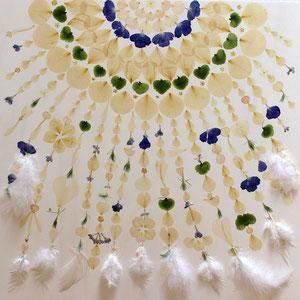 Brautstrauss trocknen - Wildblumen Federn 60 x 60