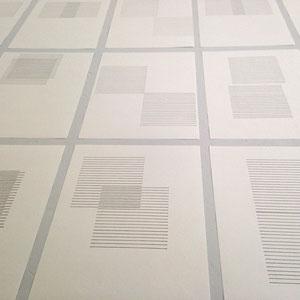 Anke Mila Menck: Felder. Zeichnungen auf A4-Papier, 2015