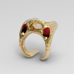 Spacer,Rendering,Kord Averdunk, CAD,organic jewellery,organic modelling,Pforzheim,zbrusch