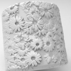 Blüten,Relief,Rendering