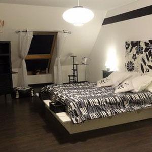 la chambre Black an White du Blockhaus de Domleger en baie de somme
