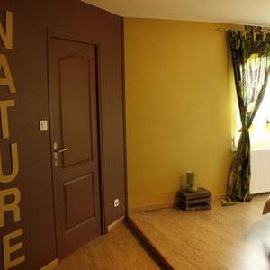 Le dressing de la chambre nature du blockhaus de domleger