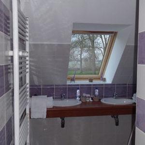 Les vasques de la salle d'eau de la chambre Parme