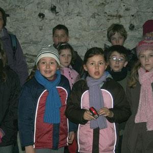 Les enfants dans le souterrain