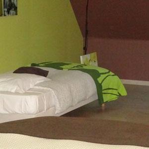 Le lit supplémentaire de la chambre d'hôtes la NARURE
