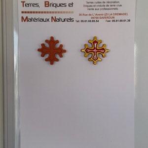 Croix occitane magnet diamètre 5 cm