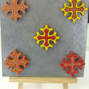 Exemples de croix occitane magnet diamètre 5 cm