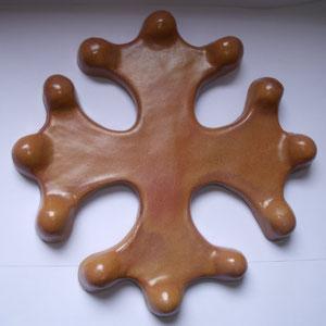 Croix occitane pleine diamètre 23 émaillé