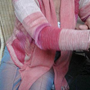 Die seidene Weste mit Leinenschalkragen, verkauft, Idee und Ausführung: Beate Gernhardt