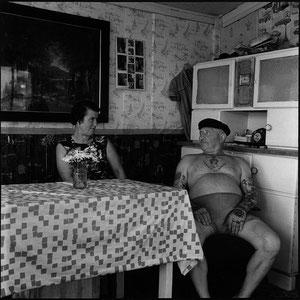 Erich Vogt und Frau, 1966, Photo, schwarz-weiß, <br>29 x 29 cm (Auflage von 12 Exp.)