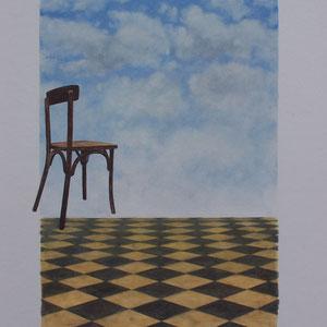 Désordre 7 - huile sur papier marouflé sur bois - 2017 - Didier Goguilly