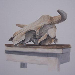 Désordre 8 - huile sur papier marouflé sur bois - 2017 - Didier Goguilly