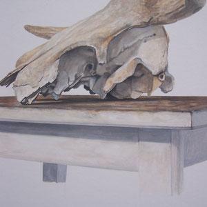 Désordre 8 (détail) - huile sur papier marouflé sur bois - 2017 - Didier Goguilly