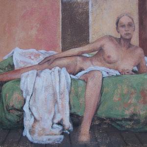 """F - Acrylique sur toile marouflée sur bois - 89 x 113 cm - 2018 - Didier Goguilly - Sommeil et illusion """" Éros """" exposition à l'ARTSENAL"""