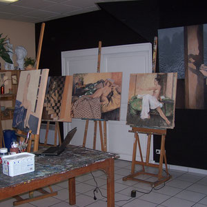 """Atelier - Didier Goguilly - Sommeil et illusion """" Éros """" exposition à l'ARTSENAL"""