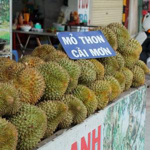 Durianfrucht: sehr geruchsintensiv bis stinkend