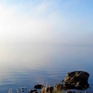 ... früh morgens den See, …