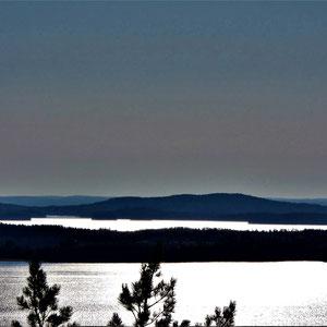 Die Weite des Sees. Entspannung für das Auge.