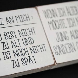 Innenraumdeko | Notiz an mich...| Wort Art Holz bedruckt | Sieb & Seele