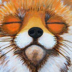 Mandala Renard (détail) - Acrylique sur toile (50x50cm 3D - vendu) - © B. Dupuis