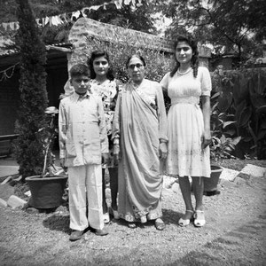 MSI Collection - 27 Aug.1948 Meherazad, India - (L-R) Jangoo, Naggu, Gulmai & Meheru.