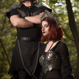 'Dark Elves' -themed costumes with armour elements.