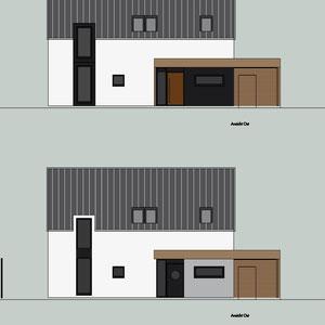 dieartige//Design Studio - Neubau // Entwurf Ansicht, Straßenansicht