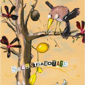 """""""SELBSTSABOTAGE"""" Ilka Walter © 2012 Größe  ca. 40 x 50 cm"""
