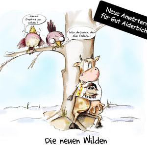 """Aktueller Anlass - """"Die Jungen Wilden"""" entlaufene Kuh """"Büchsi"""" aus Niederbayern, 2019"""
