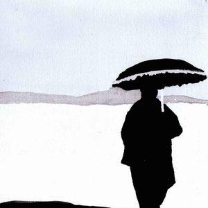 Ilustración postal para exposición colectiva de arte solidario Postales desde el Limbo.