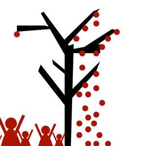 Ilustración para exposición colectiva DesigualdART contra la extrema desigualdad.