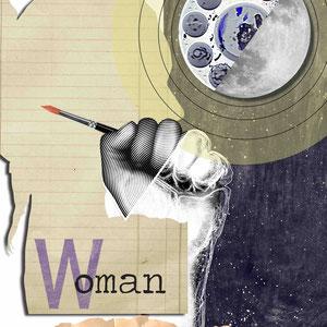 Collage digital para exposición colectiva Miradas en Femenino organizado por Mujeres que Cortan y Pegan. MULAFEST.