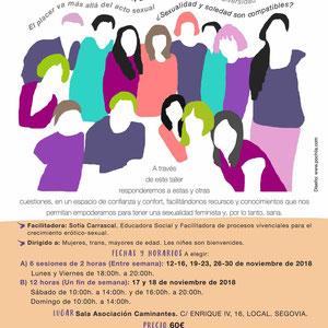 Diseño e ilustración cartel formativo para Asociación Otro Tiempo.