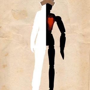 Ilustración para 100grados fanzine nº 12. Ojos que no ven, corazón que no siente.
