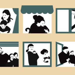Ilustración para exposición colectiva sobre diversidad familiar organizada por Háblame de mí.