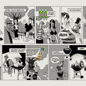 Comicstrip für die freie Wirtschaft - Agentur: HP Albrecht