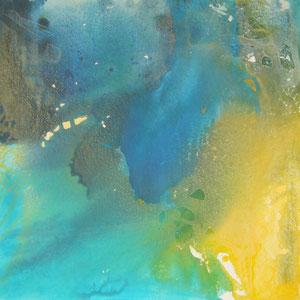 Titel: blau - 60 x 60 cm - Leinwand - Acryl