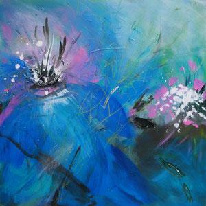Zärtlich, 80 x 80 cm, Acryl auf Leinwand
