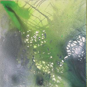 Titel: grün -  60 x 60 cm - Leinwand - Acryl