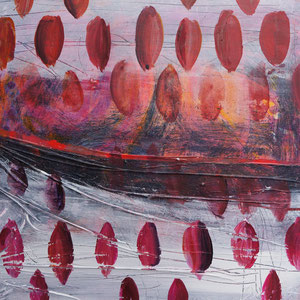 Tränen und Gondeln, 50 x 50 cm, Mischtechnik