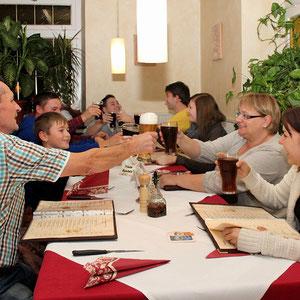 Familienfeier im Restaurant in Kandern
